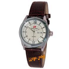 Swiss Army - SA0112L - Jam Tangan Wanita - Strap Kulit - Coklat Silver