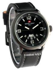 Swiss Army - SA1128M - Jam Tangan Pria - Kulit - Hitam List Putih