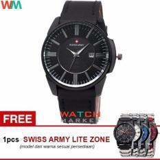 Swiss Army SA4124 Jam Tangan Pria -FB-Strap Kulit + Jam Tangan Casual