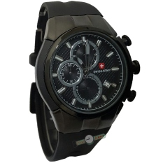 Swiss Army Dual Time Jam Tangan Pria Stainless Steel Sa H 9787 Source Stainless Steel Black