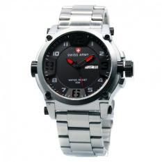 Swiss Army SA7169 Silver Merah - Jam Tangan Pria - Stainless Steel