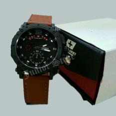 Swiss Army -SJR0955 - Jam Tangan Pria - Strap Kulit - Coklat Merah