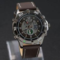 Swiss Time - Jam Tangan Dual Time Pria - Leather Strap - ST075 Brown