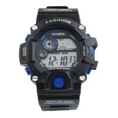 SYNOKE 9298 Unisex Fashion Multifunction Waterproof Sports Digital Watch W / Alarm Chronograph Calendar Noctilucent Black + Blue