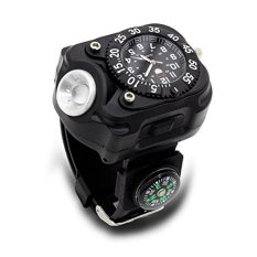 Tactical Wrist Light Watch, iBlood 5-Mode 240 Lumens Led Wristlight Flashlight Torch Wrist