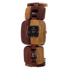 Tense Solid Sandalwood Unisex Watch Natural Wood Watch Retro B8204I -W (Intl)