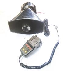 Termignoni Klakson TOA 7 Suara - 12V + Microphone - Ukuran Super Big - Besar - Hitam