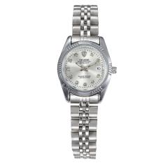 Tevise Lovers Luxury Diamond Transparent Skeleton Automatic Mechanical Watch- White Women