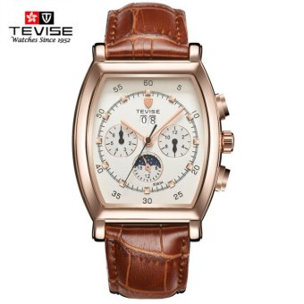 TEVISE Luxury Men Mechanical Watch Mens Business Genuine Leather Strap Top Brand Famous Watches - intl