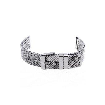 Thick Mesh Steel Strap Watch Unisex 18mm (Silver) - Intl