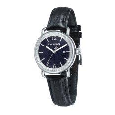 Thomas Earnshaw INVESTIGATOR ES-0030-01 Women's Black Genuine Leather Strap Watch