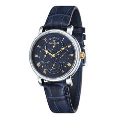 Thomas Earnshaw LONGCASE MASTER CALENDAR ES-8048-03 Men's Blue Genuine Leather Strap Watch - Intl