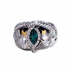 Tiaria LOTR Aragorn Cincin Pria Titanium Aksesoris Lapis Silver