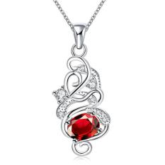 Tiaria N117-B Necklace Brand New Design Pendant Necklaces Jewelry For Women Aksesoris Kalung Lapis Emas 18K (Silver) (Silver)