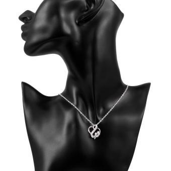 Tiaria Necklace Lknsbn110 Aksesoris Kalung Lapis Silver .