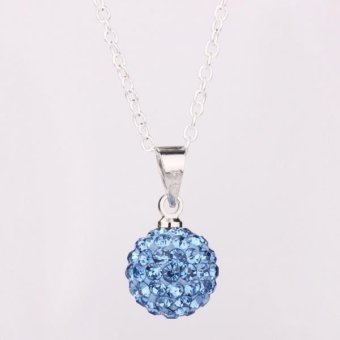Tiaria P006 Crystal Silver Jewelry For Women Gift Aksesoris Liontin Lapis Emas 18K (Silver)