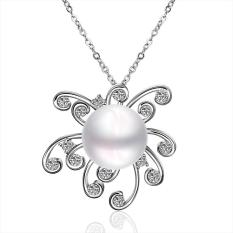 Tiaria P053 Beautiful Pearl Pendants For Girl Friend Best Gift Aksesoris Liontin Lapis Emas 18K (Silver) (Silver)