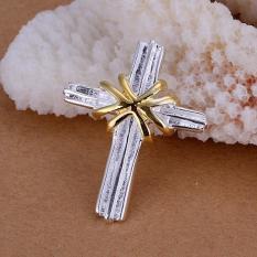 Tiaria P103 Nickel Lead Free Pendant For Gift Aksesoris Liontin Lapis Emas 18K (Silver) (Silver)
