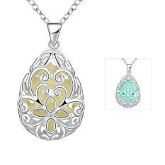 Tiaria Tiaria N007-B 2016 Fashion Popular Noctilucent Necklace Aksesoris Kalung Lapis Emas 18K - Silver (Silver)