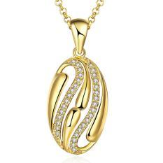 Tiaria Tiaria N042-A Zircon Necklace Fashion Jewelry Necklace Aksesoris Kalung Lapis Emas 18K - Silver (Silver) (Silver)