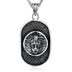 Tiaria Tiaria N076 Titanium Fashion Vintage Pendant Necklace Aksesoris Kalung Lapis Emas 18K - Silver (Silver) (Silver)
