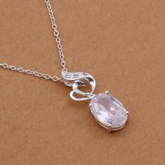 Tiaria Tiaria N335 Fashion Popular Chain Necklace Jewelry Aksesoris Kalung Lapis Emas 18K - Silver (Silver)