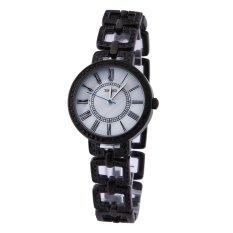 TIME100 Fashion Diamond Skeleton Roman Numerals Black Bracelet Ladies Quartz Watch W50220L.04A (Intl)