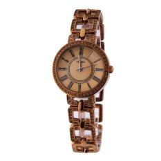 TIME100 Fashion Diamond Skeleton Roman Numerals Coffee Bracelet Ladies Quartz Watch W50220L.02A (Intl)