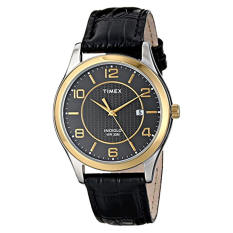 Timex Men's T2P4509J Main Street Dress Watch With Black Leather Band - Intl