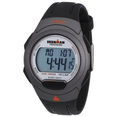 Timex Men's T5K607 Ironman Traditional 10-Lap Black Resin Strap
