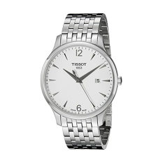 Tissot Men's T0636101103700 Tradition Round Silver-Tone Bracelet Watch - Intl