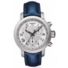 Tissot Original PRC 200 Quartz Chronograph T055.217.16.033.00 Women's Watch - Blue Silver