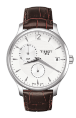 TISSOT Tradition GMT Jam Tangan Pria T0636391603700 - Leather - Brown