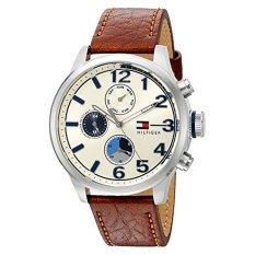 Tommy Hilfiger Men's Quartz Stainless Steel And Leather Casual Watch, Color:Brown (Model: 1791239) - Intl