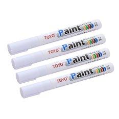Toyo Paint Tire Maker / Spidol Ban - Putih (Paket 4 Pcs)