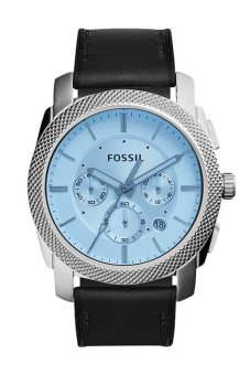 Triple 8 Collection - Fossil Machine Blue Crystal Chronograph FS5160 - Jam tangan Pria Silver