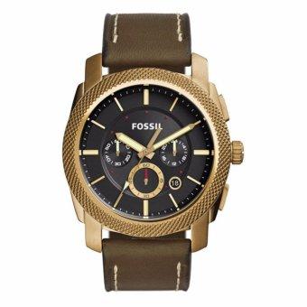 Triple 8 Collection - Fossil Machine FS5064 Gold - Jam tangan Pria