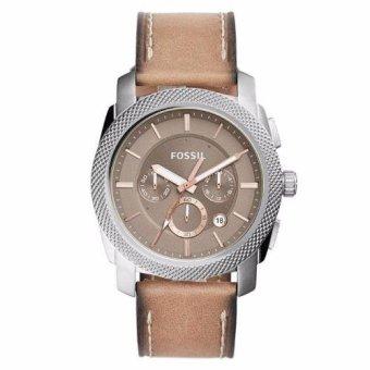 Triple 8 Collection - Fossil Machine FS5192 - Jam tangan Pria Silver