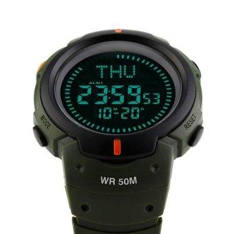 TTLIFE merek Fashion olahraga luar ruangan sauna pria Digital 50 m tahan air kompas jam tangan