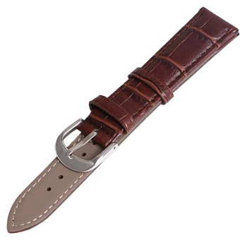 Twinklenorth 12mm Brown Genuine Leather Watch Strap Band