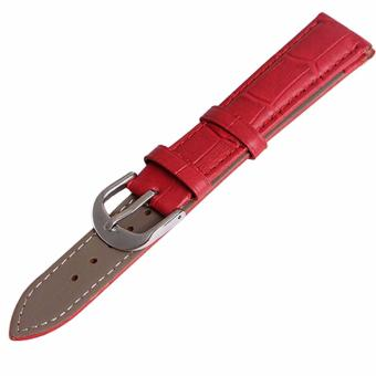 Twinklenorth 12mm Red Genuine Leather Watch Strap Band - intl