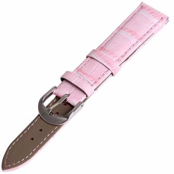 Twinklenorth 14mm Pink Genuine Leather Watch Strap Band - intl