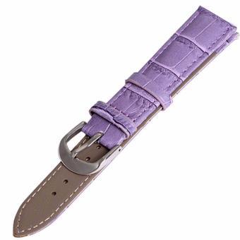 Twinklenorth 20mm Purple Genuine Leather Watch Strap Band - intl