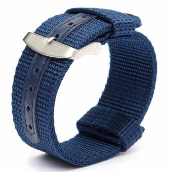 Twinklenorth 22mm Blue Nylon Nato Strap Nylon Military Watch Band Strap Watchband NATO-051 - intl