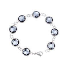 Twist Chain Artificial Cry Stal Bracelet 316L Titanium Steel Trendy Faddish Females Jewelry Decorations - Intl