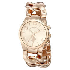 U.S. Polo Assn. Women's USC40070 Rose Gold-Tone Watch With Link Bracelet - Intl