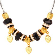 U7 DIY Made with Love 18K Real Gold Plated Crystal Necklace (Intl)