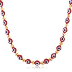 U7 Evil Eyes Lucky Chain Necklace 18K Gold Plated Accessories (Intl)