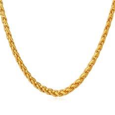 U7 Fashion Untuk Pria/Wanita Kalung Rantai 18 KB Nyata Emas Berlapis Emas Aksesoris Perhiasan (Emas)