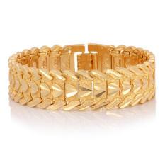 U7 Jantung Fashion 18 KB Nyata Emas Berlapis Gelang (Emas)